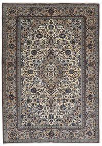 Keshan Vloerkleed 237X343 Echt Oosters Handgeknoopt Donkergrijs/Lichtgrijs (Wol, Perzië/Iran)