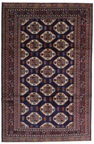 Turkaman Vloerkleed 247X378 Echt Oosters Handgeknoopt Donkerpaars/Donkerbruin (Wol, Perzië/Iran)