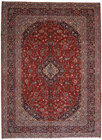 Keshan Vloerkleed 297X409 Echt Oosters Handgeknoopt Donkerrood/Zwart Groot (Wol, Perzië/Iran)