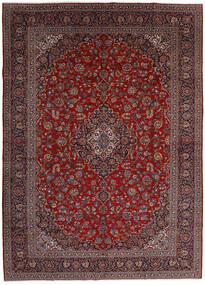 Keshan Vloerkleed 299X416 Echt Oosters Handgeknoopt Donkerrood/Donkergrijs Groot (Wol, Perzië/Iran)