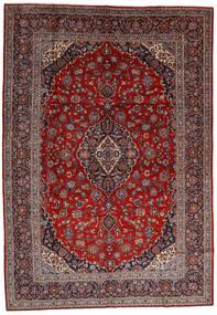 Keshan Vloerkleed 278X400 Echt Oosters Handgeknoopt Donkerrood/Bruin Groot (Wol, Perzië/Iran)