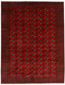 Turkaman Vloerkleed 296X383 Echt Oosters Handgeknoopt Donkerrood/Donkerbruin Groot (Wol, Perzië/Iran)