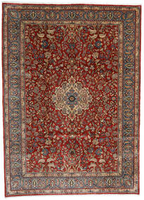 Sarough Vloerkleed 282X392 Echt Oosters Handgeknoopt Donkerbruin/Lichtbruin/Donkerrood Groot (Wol, Perzië/Iran)