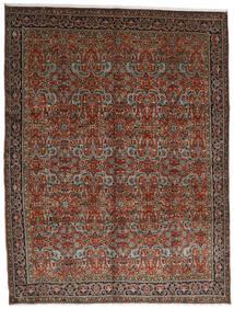 Tabriz Vloerkleed 302X396 Echt Oosters Handgeknoopt Donkerrood/Donkerbruin Groot (Wol, Perzië/Iran)
