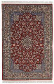 Isfahan Sherkat Farsh Vloerkleed 200X300 Echt Oosters Handgeknoopt Donkerrood/Donkerbruin (Wol/Zijde, Perzië/Iran)