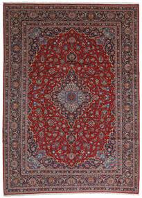 Keshan Vloerkleed 292X406 Echt Oosters Handgeknoopt Donkerbruin/Donkerrood Groot (Wol, Perzië/Iran)