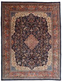 Sarough Vloerkleed 274X356 Echt Oosters Handgeknoopt Donkerbruin/Zwart Groot (Wol, Perzië/Iran)