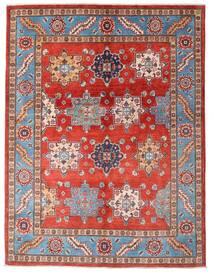 Kazak Vloerkleed 149X195 Echt Oosters Handgeknoopt Roestkleur/Donkerrood (Wol, Afghanistan)
