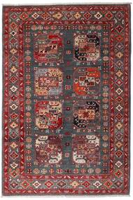Kazak Vloerkleed 117X173 Echt Oosters Handgeknoopt Donkerrood/Donkerbruin (Wol, Afghanistan)