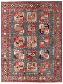 Kazak Vloerkleed 152X202 Echt Oosters Handgeknoopt Donkerrood/Bruin (Wol, Afghanistan)