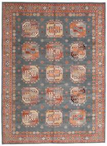 Kazak Vloerkleed 246X333 Echt Oosters Handgeknoopt Donkergroen/Donkerrood (Wol, Afghanistan)