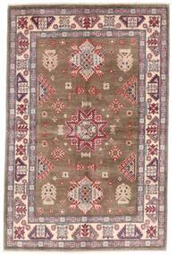 Kazak Vloerkleed 119X179 Echt Oosters Handgeknoopt Bruin/Lichtgrijs (Wol, Afghanistan)