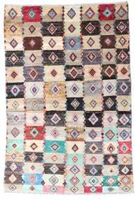 Moroccan Berber - Afghanistan Vloerkleed 137X204 Echt Modern Handgeknoopt Beige/Lichtgrijs (Wol, Afghanistan)