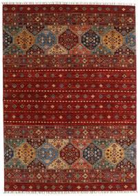 Shabargan Vloerkleed 173X244 Echt Modern Handgeknoopt Donkerrood/Rood (Wol, Afghanistan)