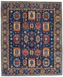 Kazak Vloerkleed 243X294 Echt Oosters Handgeknoopt Donkerblauw/Lichtbruin (Wol, Afghanistan)