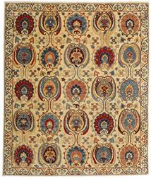 Kazak Vloerkleed 245X291 Echt Oosters Handgeknoopt Donkerbeige/Donkerbruin (Wol, Afghanistan)
