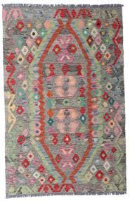 Kelim Afghan Old Style Vloerkleed 96X149 Echt Oosters Handgeweven Lichtgrijs/Donkergrijs (Wol, Afghanistan)