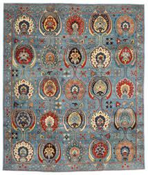 Kazak Vloerkleed 246X294 Echt Oosters Handgeknoopt Donkerrood/Blauw (Wol, Afghanistan)