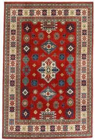 Kazak Vloerkleed 198X302 Echt Oosters Handgeknoopt Donkerrood/Roestkleur (Wol, Afghanistan)