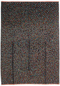 Kelim Moderne Vloerkleed 206X286 Echt Modern Handgeweven Zwart (Wol, Afghanistan)