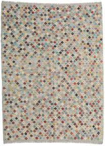 Kelim Afghan Old Style Vloerkleed 211X282 Echt Oosters Handgeweven Lichtgrijs (Wol, Afghanistan)