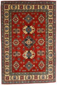 Kazak Vloerkleed 182X276 Echt Oosters Handgeknoopt Donkergrijs/Roestkleur (Wol, Afghanistan)