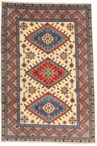 Kazak Vloerkleed 198X296 Echt Oosters Handgeknoopt Donkerrood/Beige (Wol, Afghanistan)