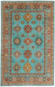 Kazak Vloerkleed 198X313 Echt Oosters Handgeknoopt Turquoise Blauw/Lichtgroen (Wol, Afghanistan)