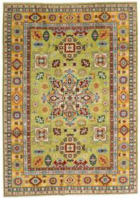 Kazak Vloerkleed 205X289 Echt Oosters Handgeknoopt Donkerrood/Geel (Wol, Afghanistan)