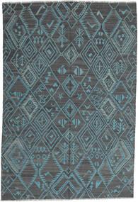 Kelim Moderne Vloerkleed 197X291 Echt Modern Handgeweven Lichtblauw/Blauw (Wol, Afghanistan)