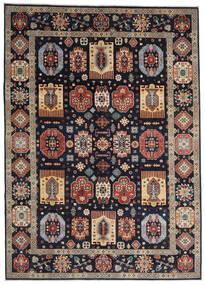 Kazak Vloerkleed 252X349 Echt Oosters Handgeknoopt Donkerblauw/Lichtgrijs Groot (Wol, Afghanistan)