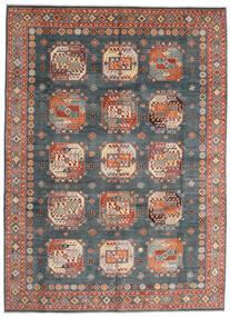 Kazak Vloerkleed 252X345 Echt Oosters Handgeknoopt Lichtblauw/Donkerrood Groot (Wol, Afghanistan)