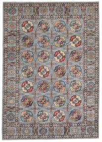 Kazak Vloerkleed 246X347 Echt Oosters Handgeknoopt Donkerbruin (Wol, Afghanistan)