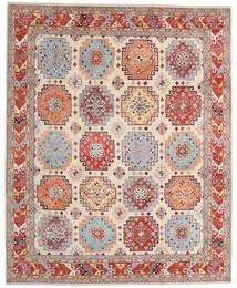 Kazak Vloerkleed 241X297 Echt Oosters Handgeknoopt Beige/Lichtgrijs (Wol, Afghanistan)