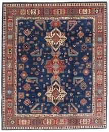 Kazak Vloerkleed 241X290 Echt Oosters Handgeknoopt Donkerblauw/Bruin (Wol, Afghanistan)