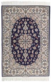 Isfahan Zijden Pool Getekend: Intashari Vloerkleed 110X162 Echt Oosters Handgeknoopt Lichtgrijs/Donkerpaars (Wol/Zijde, Perzië/Iran)