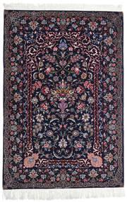 Isfahan Zijden Pool Vloerkleed 110X160 Echt Oosters Handgeknoopt Zwart/Donkerpaars (Wol/Zijde, Perzië/Iran)