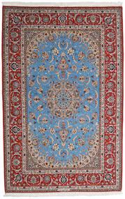 Isfahan Zijden Pool Vloerkleed 164X256 Echt Oosters Handgeknoopt Lichtgrijs/Donkerbruin (Wol/Zijde, Perzië/Iran)