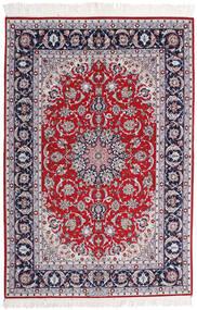 Isfahan Zijden Pool Getekend Ansari Vloerkleed 158X237 Echt Oosters Handgeknoopt Licht Paars/Donkergrijs (Wol/Zijde, Perzië/Iran)