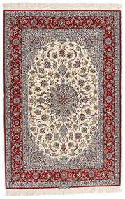 Isfahan Zijden Pool Getekend Entashari Vloerkleed 161X241 Echt Oosters Handgeknoopt Beige/Lichtgrijs/Donkerbruin (Wol/Zijde, Perzië/Iran)