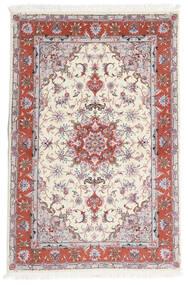 Tabriz 60 Raj Zijden Pool Vloerkleed 101X153 Echt Oosters Handgeknoopt Beige/Lichtgrijs (Wol/Zijde, Perzië/Iran)