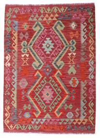 Kelim Afghan Old Style Vloerkleed 104X145 Echt Oosters Handgeweven Rood/Roestkleur (Wol, Afghanistan)