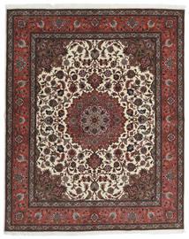 Tabriz 60 Raj Zijden Pool Vloerkleed 201X248 Echt Oosters Handgeknoopt Donkerbruin/Donkerrood (Wol/Zijde, Perzië/Iran)
