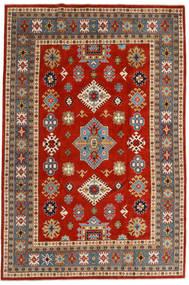 Kazak Vloerkleed 203X301 Echt Oosters Handgeknoopt Roestkleur/Blauw (Wol, Afghanistan)