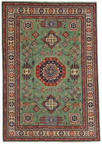 Kazak Vloerkleed 197X289 Echt Oosters Handgeknoopt Olijfgroen/Zwart (Wol, Afghanistan)