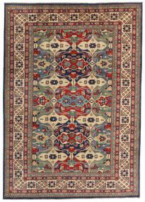 Kazak Vloerkleed 200X282 Echt Oosters Handgeknoopt Donkerrood/Donkergrijs (Wol, Afghanistan)