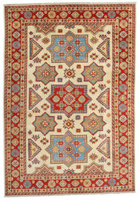 Kazak Vloerkleed 201X288 Echt Oosters Handgeknoopt Roestkleur/Geel (Wol, Afghanistan)