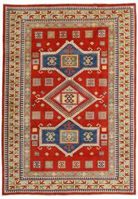 Kazak Vloerkleed 203X289 Echt Oosters Handgeknoopt Roestkleur/Donkergrijs (Wol, Afghanistan)