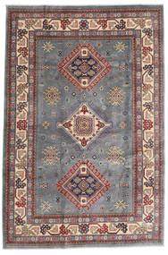 Kazak Vloerkleed 196X292 Echt Oosters Handgeknoopt Donkergrijs/Lichtgrijs (Wol, Afghanistan)