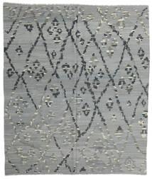 Kelim Moderne Vloerkleed 257X297 Echt Modern Handgeweven Lichtgroen/Donkergrijs Groot (Wol, Afghanistan)